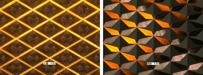 超微小菱形プリズム形状駒 拡大画像